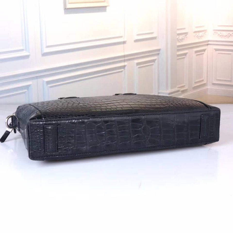 Cặp laptop, túi xách nam da bụng cá sấu đen - CLTNDT013S