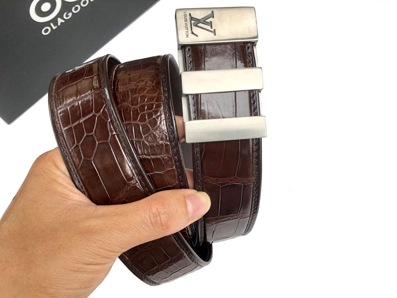 Thắt lưng nam cá sấu cao cấp giá rẻ - TDENLVT0116S