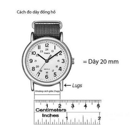 cách đo dây đồng hồ da cá sấu thật đơn giản