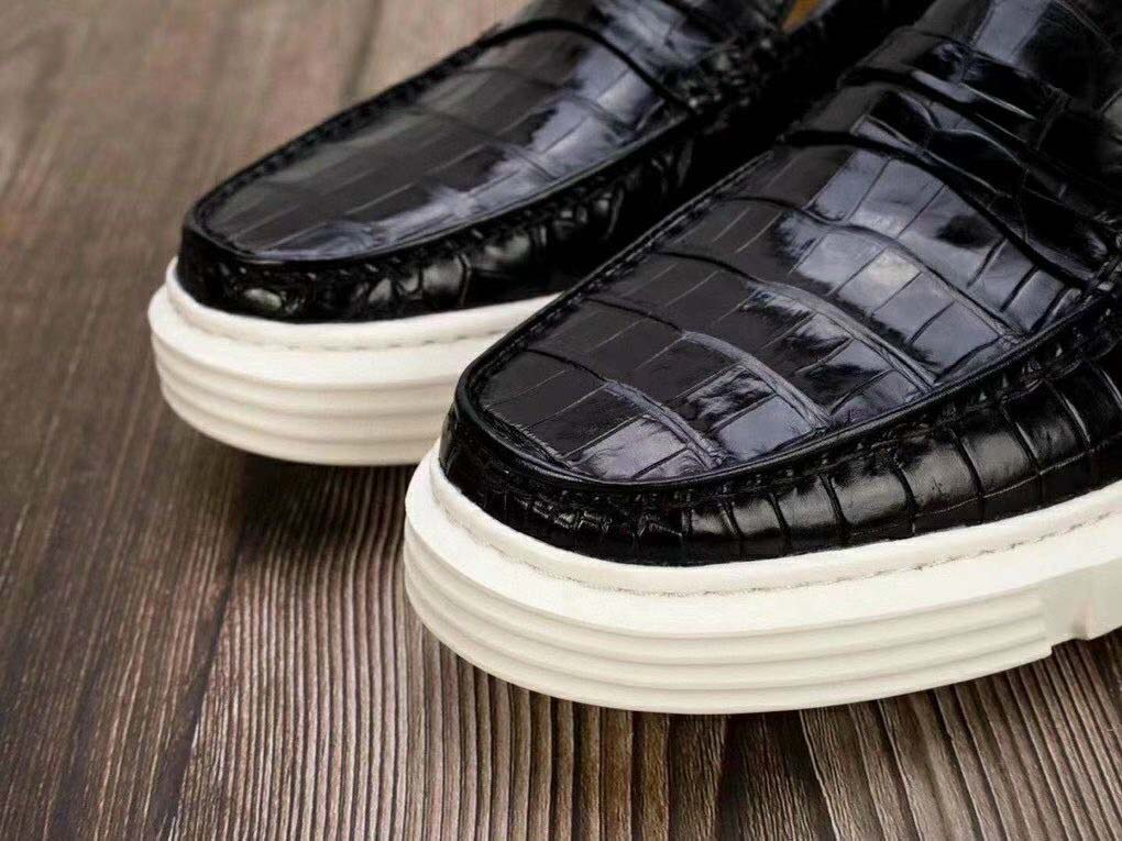 Giày nam snearker da cá sấu
