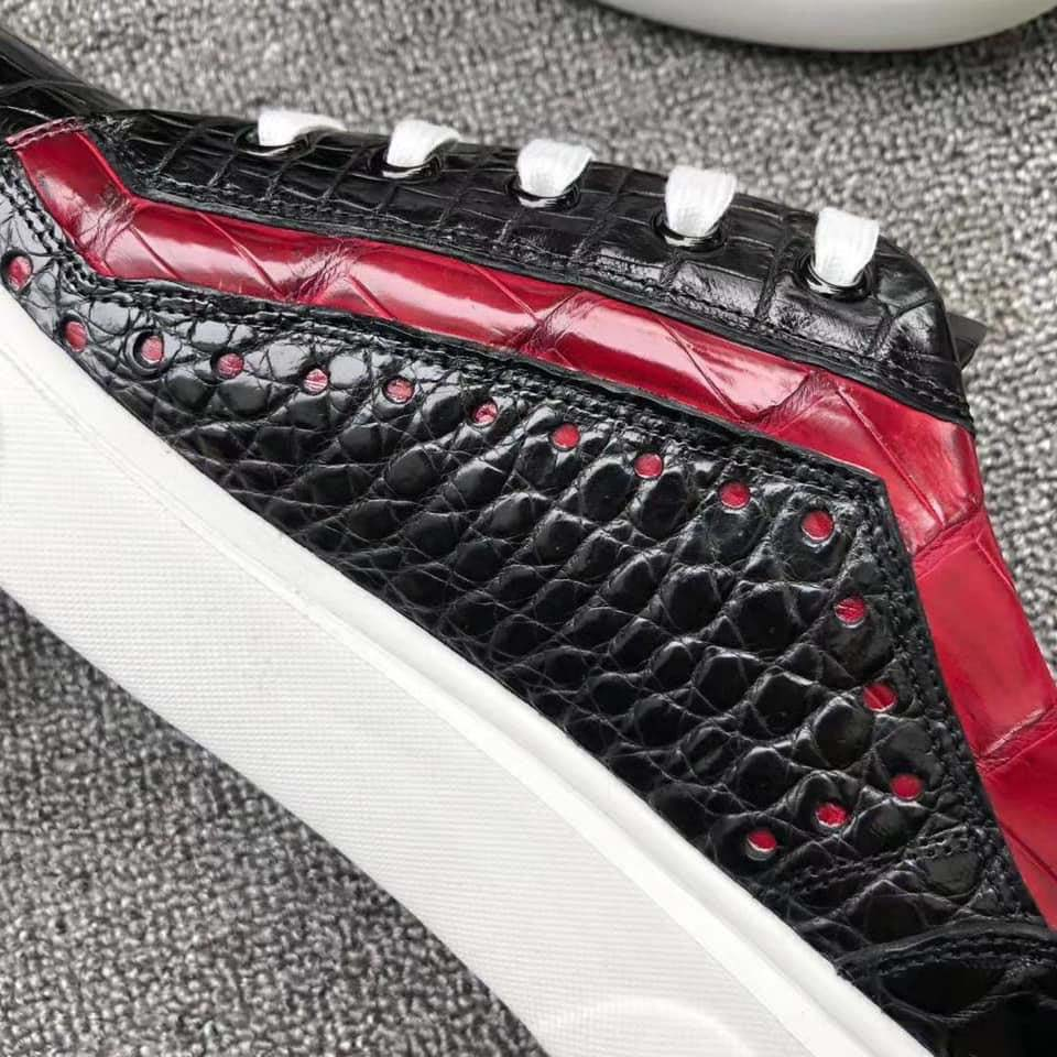 Giày thể thao da cá sấu olagood