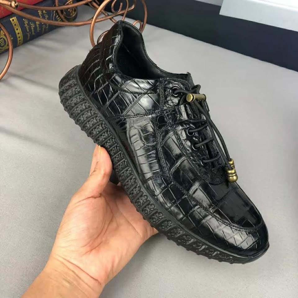 Giày snearker thể thao da cá sấu