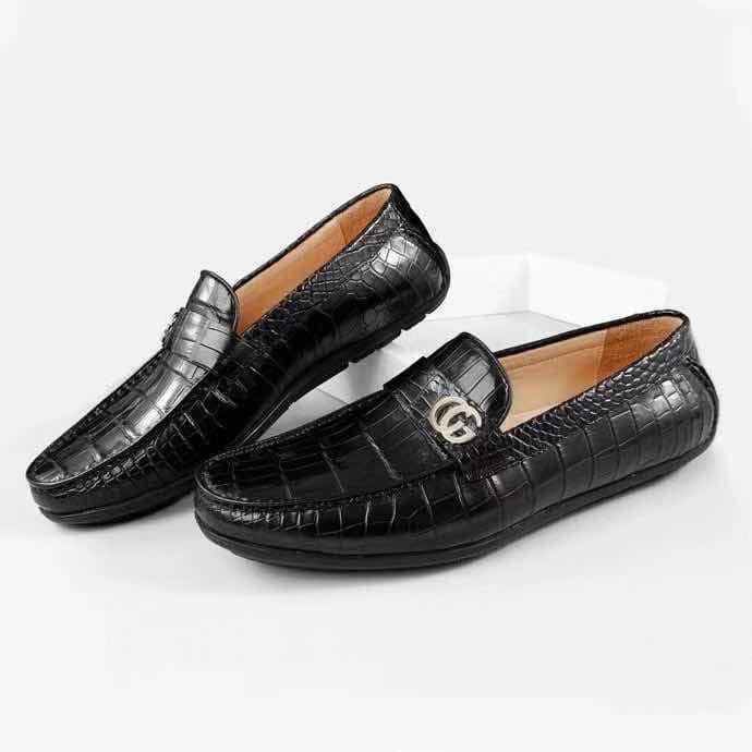 Giày mọi da cá sấu cao cấp olagood