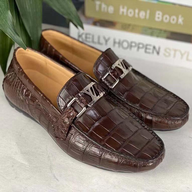 giày lười nam da cá sấu GLLV016S