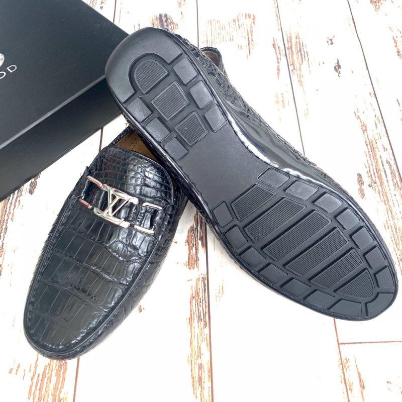 Giày lười da cá sấu nam