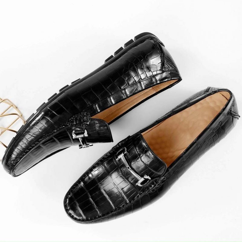 Giày lười da cá sấu cao cấp