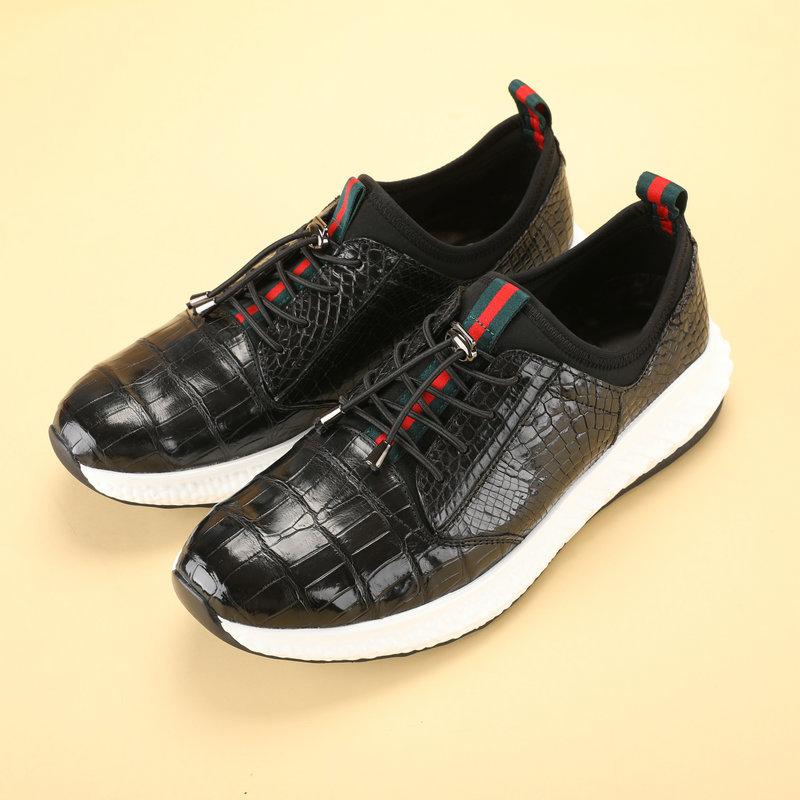 Giày thể thao da cá sấu màu đen cao cấp – GTT018