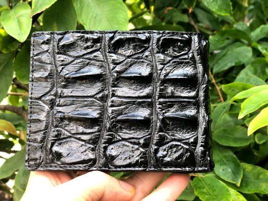 Ví nam cá sấu đen gai lưng – VDG014S