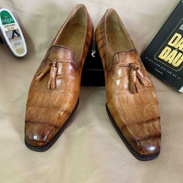 giầy da cá sấu nam hàng hiệu nhập khẩu
