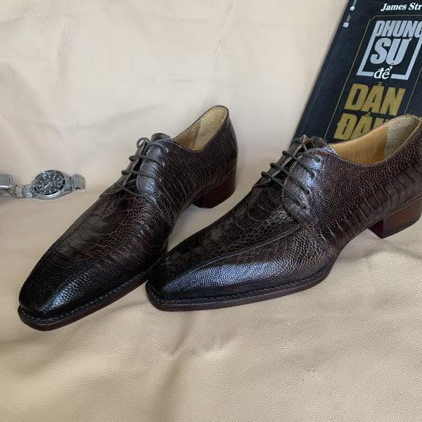 giày da đà điểu thật cao cấp chính hãng