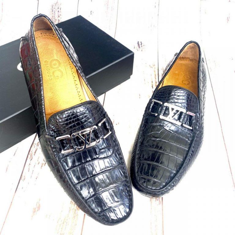 Giày lười da cá sấu nam cao cấp gllv016s