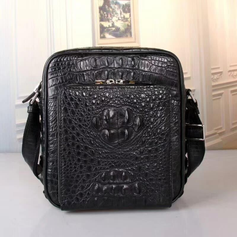 Túi xách đeo chéo Ipad nam da cá sấu đen – TXIPDG012S